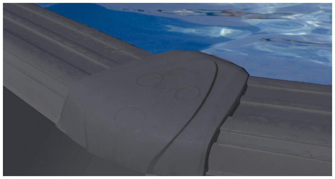 renforts piscine aspect graphite gre