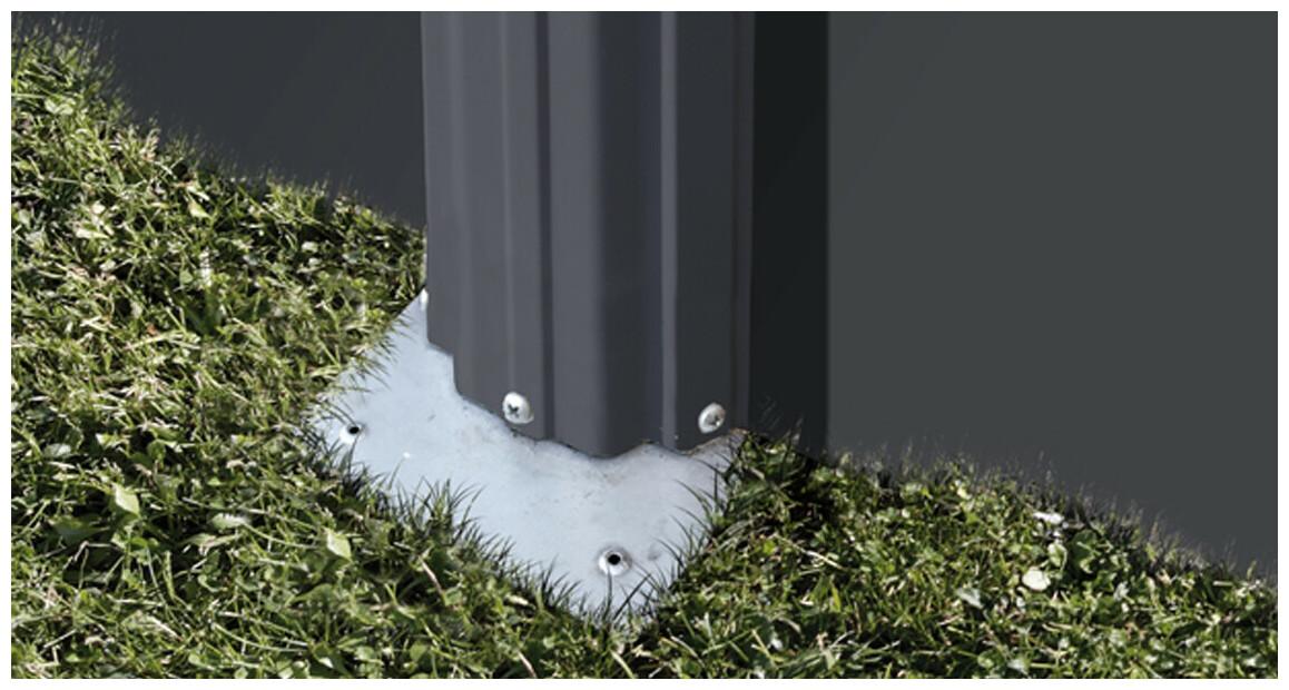 structure de la piscine hors sol en acier aspect graphite