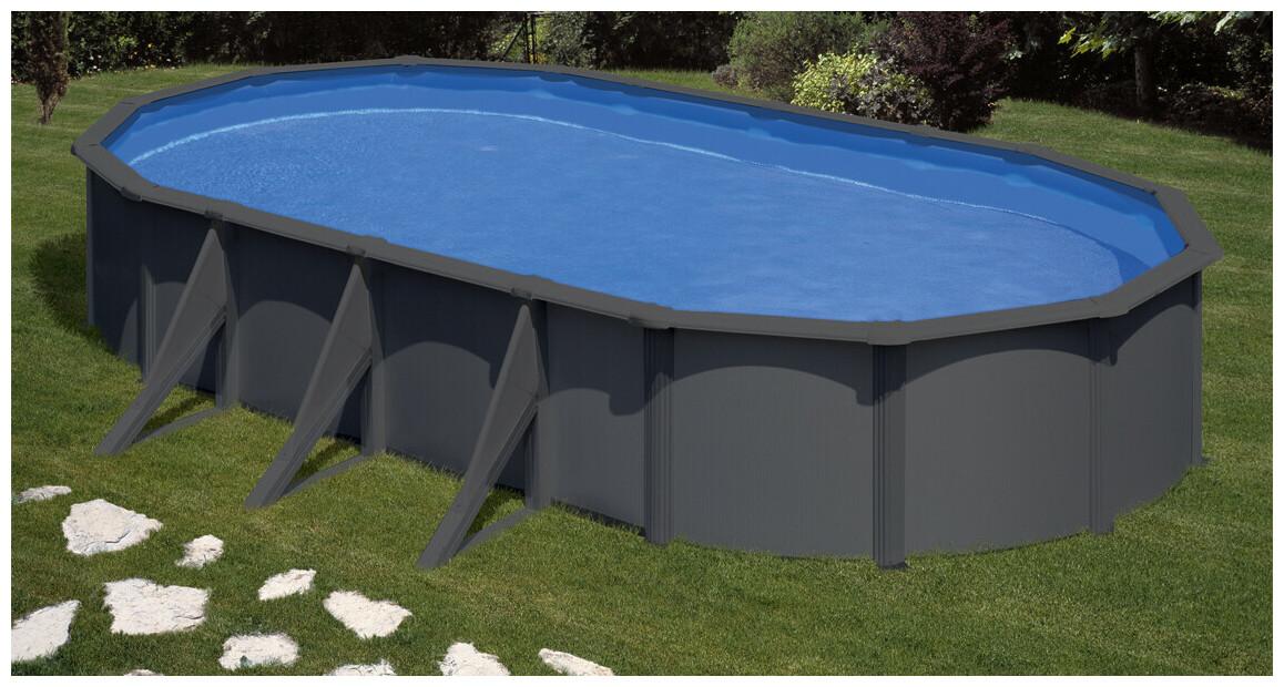 piscine hors sol en acier graphite gre en situation