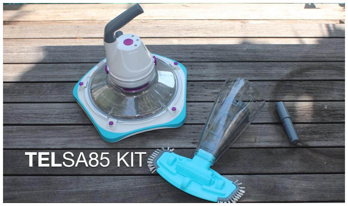 kit rechargeable d'aspirateur de piscines Telsa 85 kokido en situation