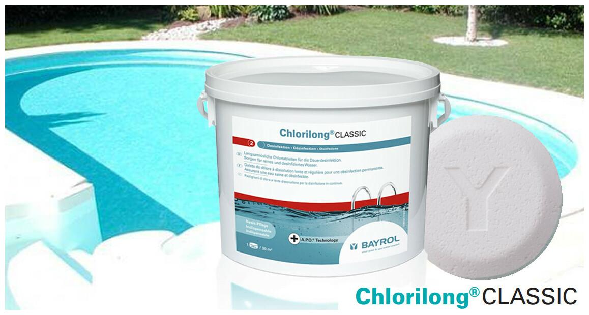 chlore pour piscines chlorilong classic par Bayrol