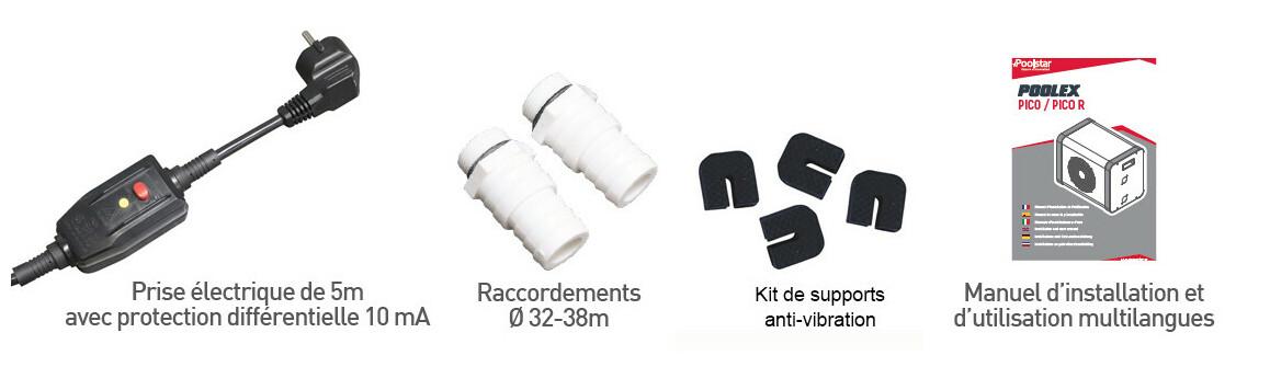 accessoires de la pompe à chaleur Jetblack Mini poolex