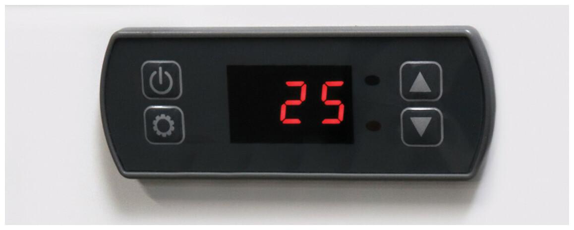 panneau de contrôle de la pompe à chaleur jetblack mini