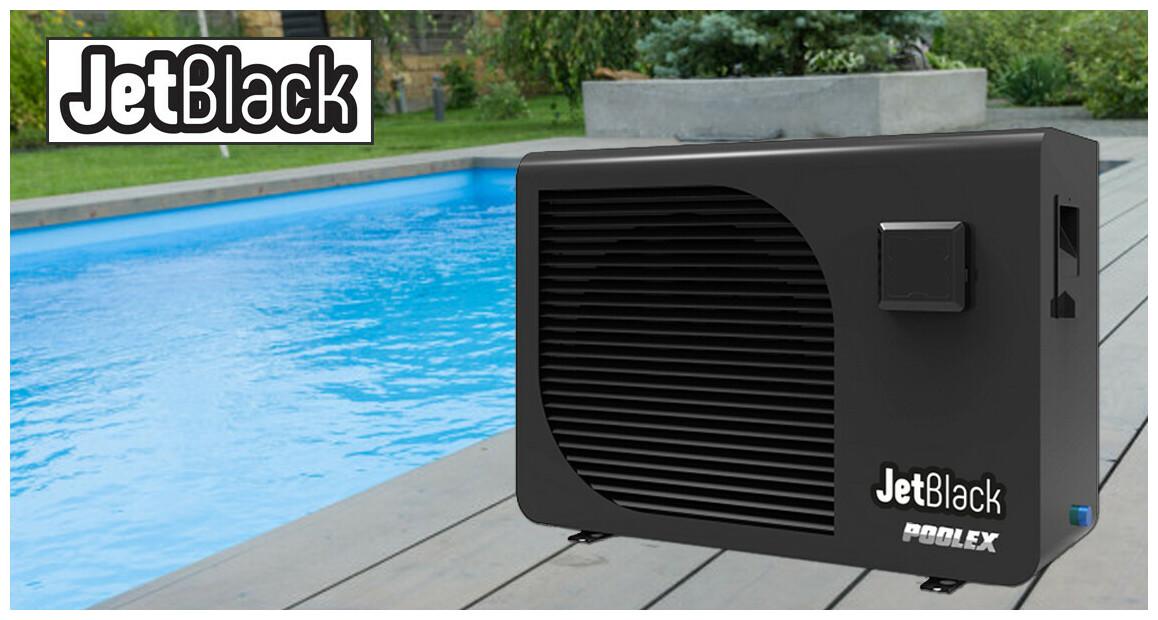 pompe à chaleur pour piscine jetblack poolex en situation
