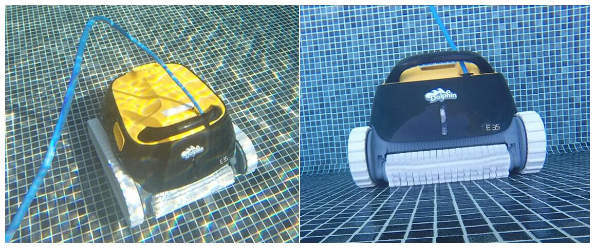 nettoyage du robot de piscine Dolphin E35