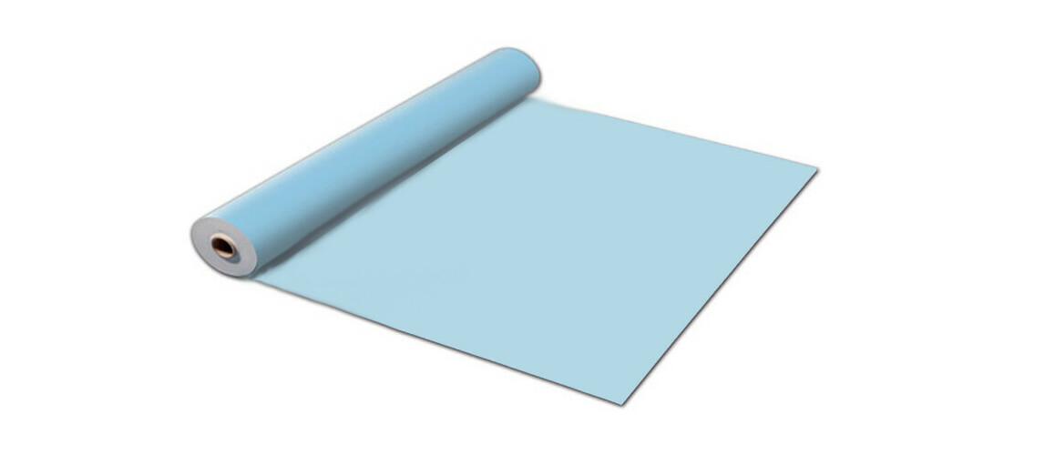 rouleau PVC armé 150 ème bleu clair poolskin astralpool