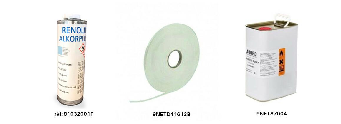 produits complémentaires pour pvc armé poolskin bleu clair
