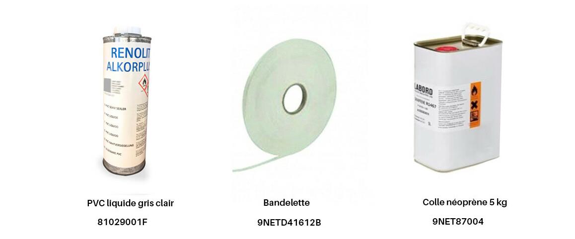produits complémentaires pour pvc armé poolskin gris clair