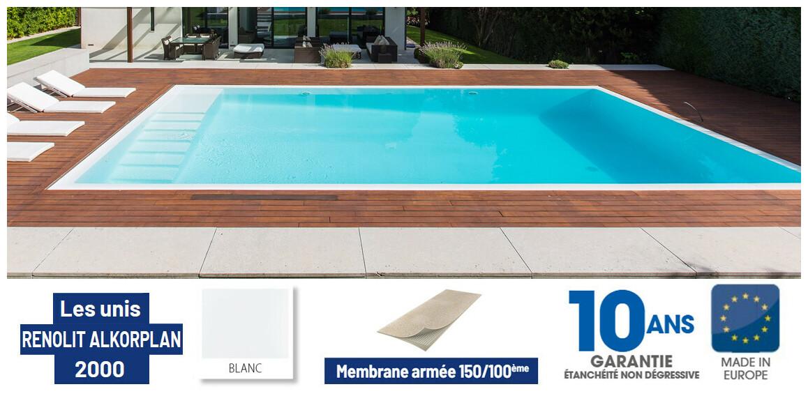 liner pvc armé 150 ème pour piscine renolit alkorplan astral pool bleu adriatique