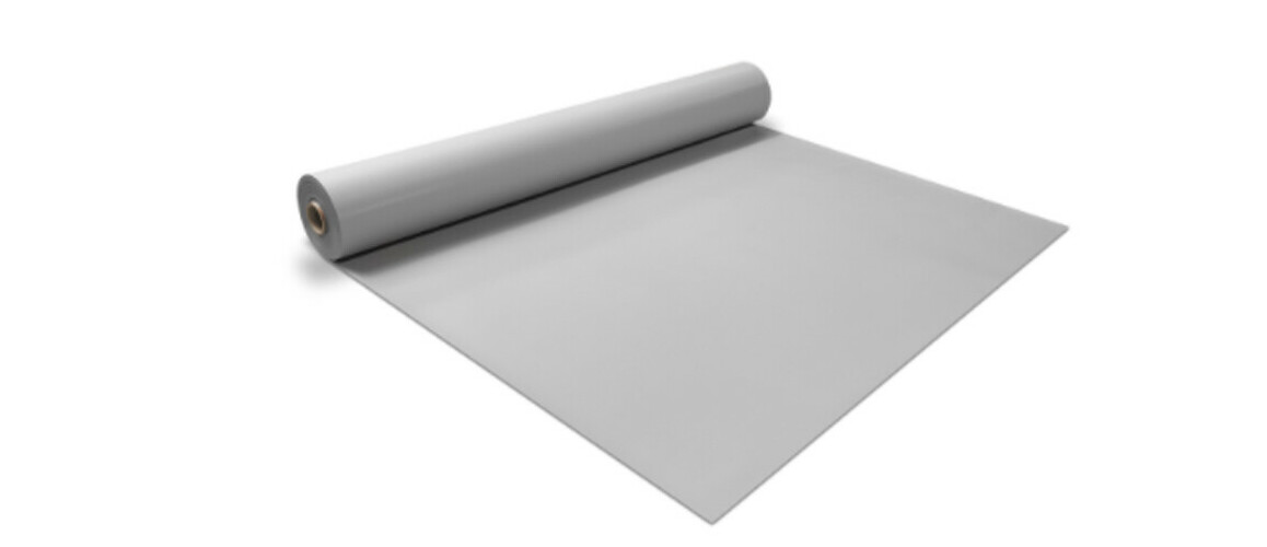 pvc armé 150/100 ème renolit alkorplan gris clair