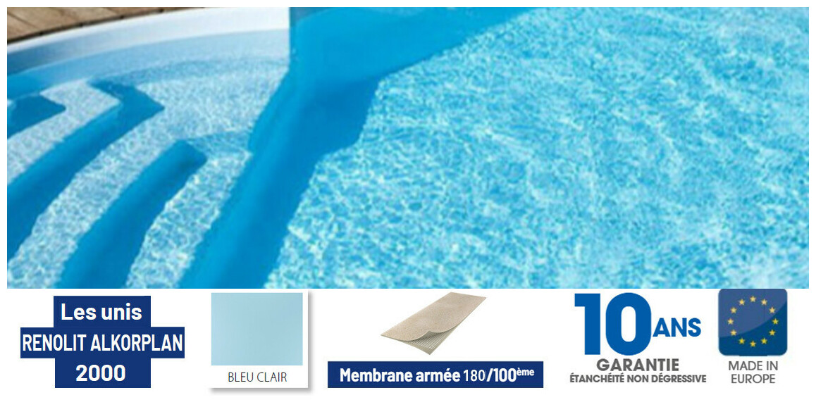 liner antidérapant renolit alkorplan bleu clair en situation