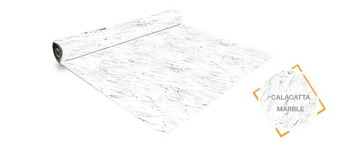rouleau pvc aquasense 160/100 ème calacatta marble