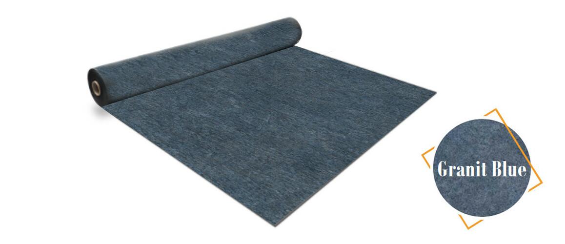 rouleau PVC armé 160/100 ème bleu granit Aquasence