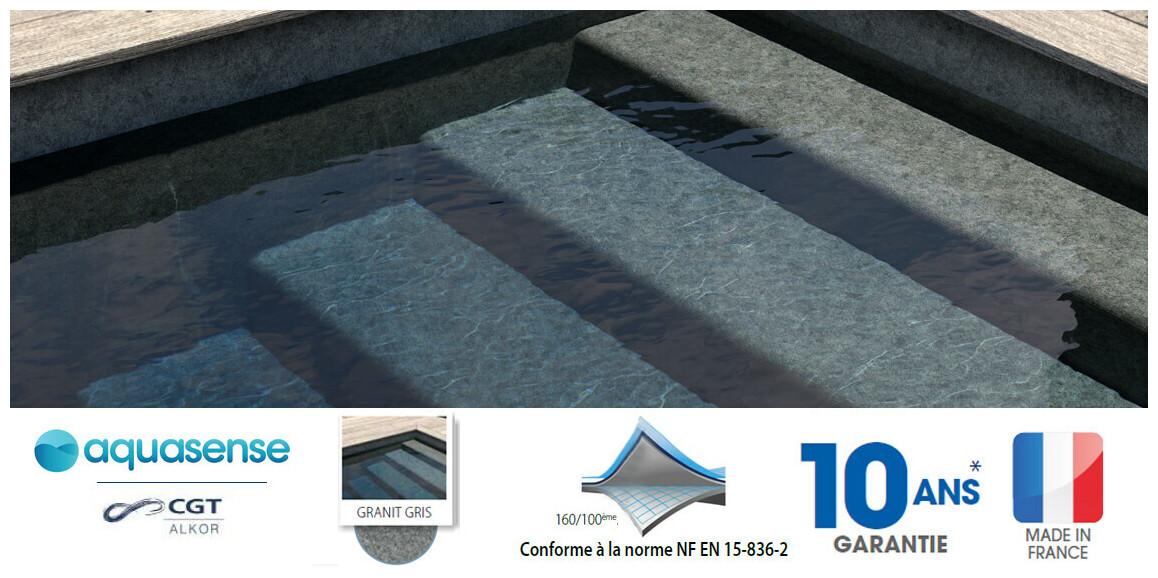 liner armé aquasense granit gris