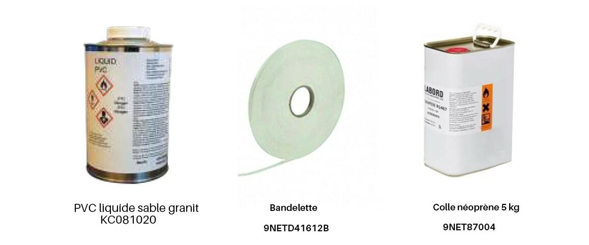 PVC armé 160/100 ème Aquasense granit sable