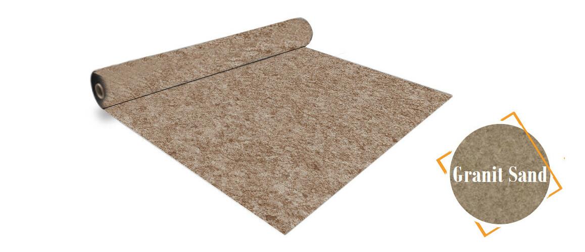 rouleau pvc aquasense 160/100 ème granit sable