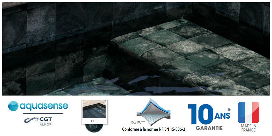 liner armé 160/100 ème imprimé Aquasense FIDJI