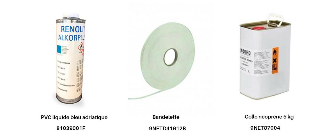 produits complémentaires du pvc armé imprimé mosaïque Cyrus Bleu150/100 ème pf4000