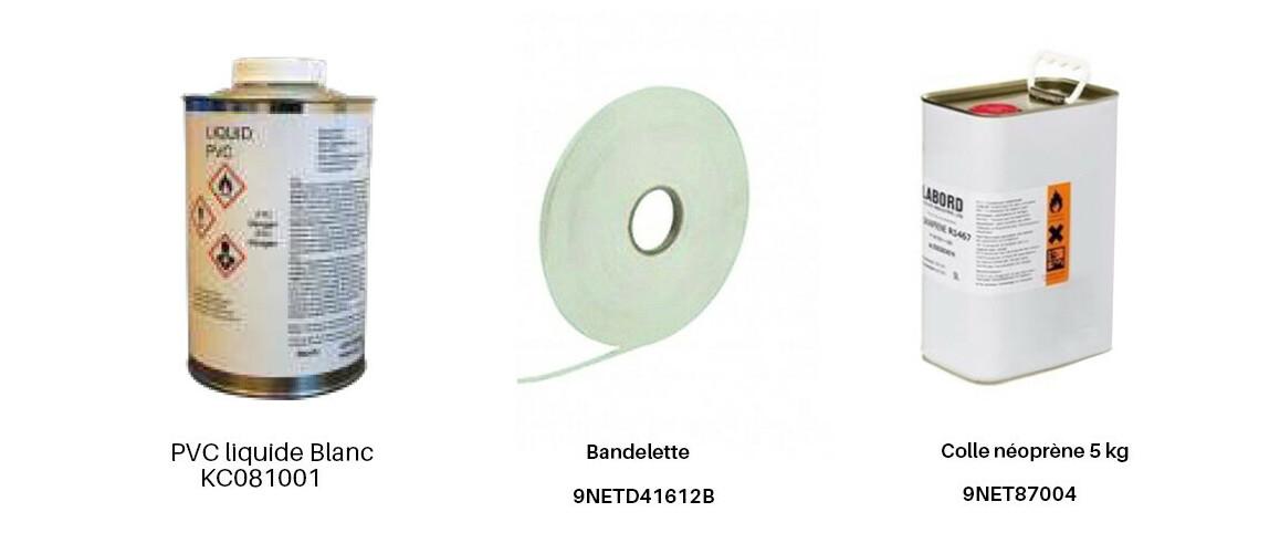 produits complémentaire pour pvc armé pf4000 imprimé mosaique cyrus gris