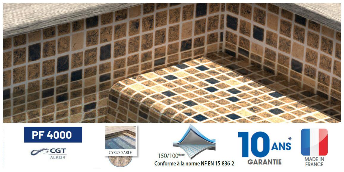 liner armé 150/100 ème PF4000 imprimé mosaïque cyrus sable