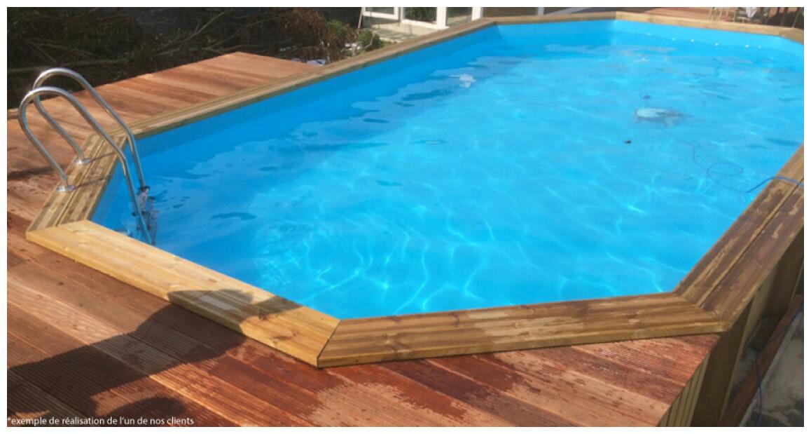 piscine bois woodfirst original octogonale allongée 735x410x138