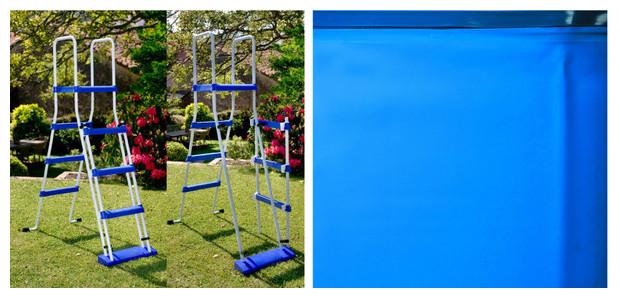 Piscine en kit gr acier montage rapide forme en huit for Liner piscine hors sol 460 x 120