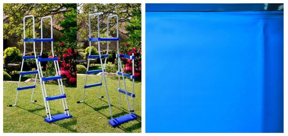 Kit piscine gr hors sol structure acier tout inclus for Montage piscine hors sol acier