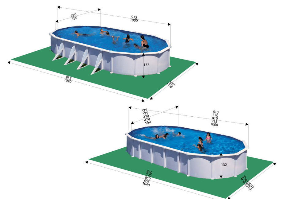 Kit piscine gr hors sol structure acier tout inclus for Piscine center