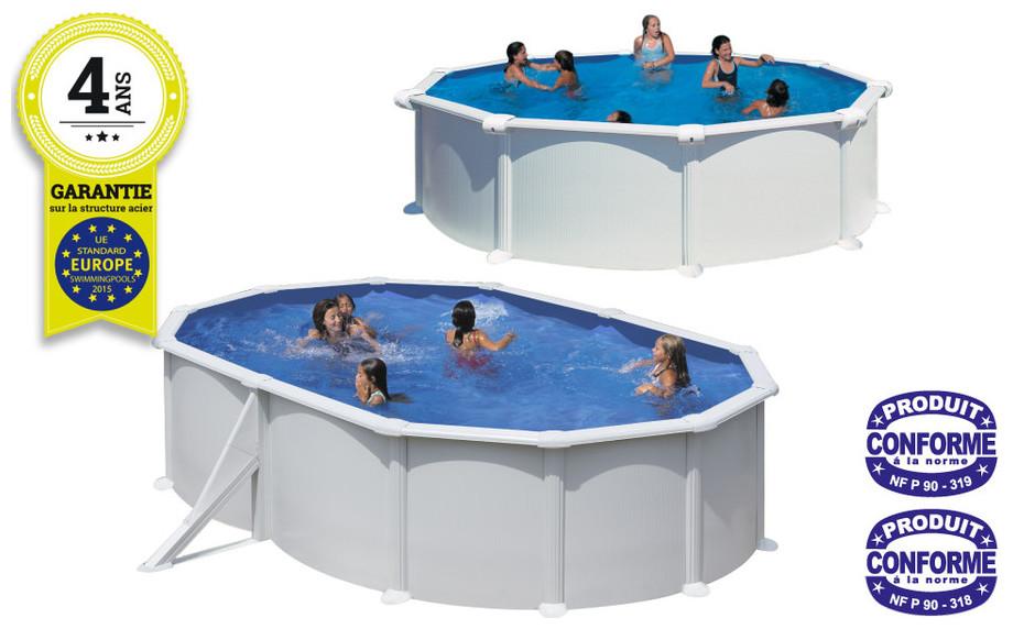 Kit piscine gr atlantis structure acier blanc tout inclus for Piscine atlantis