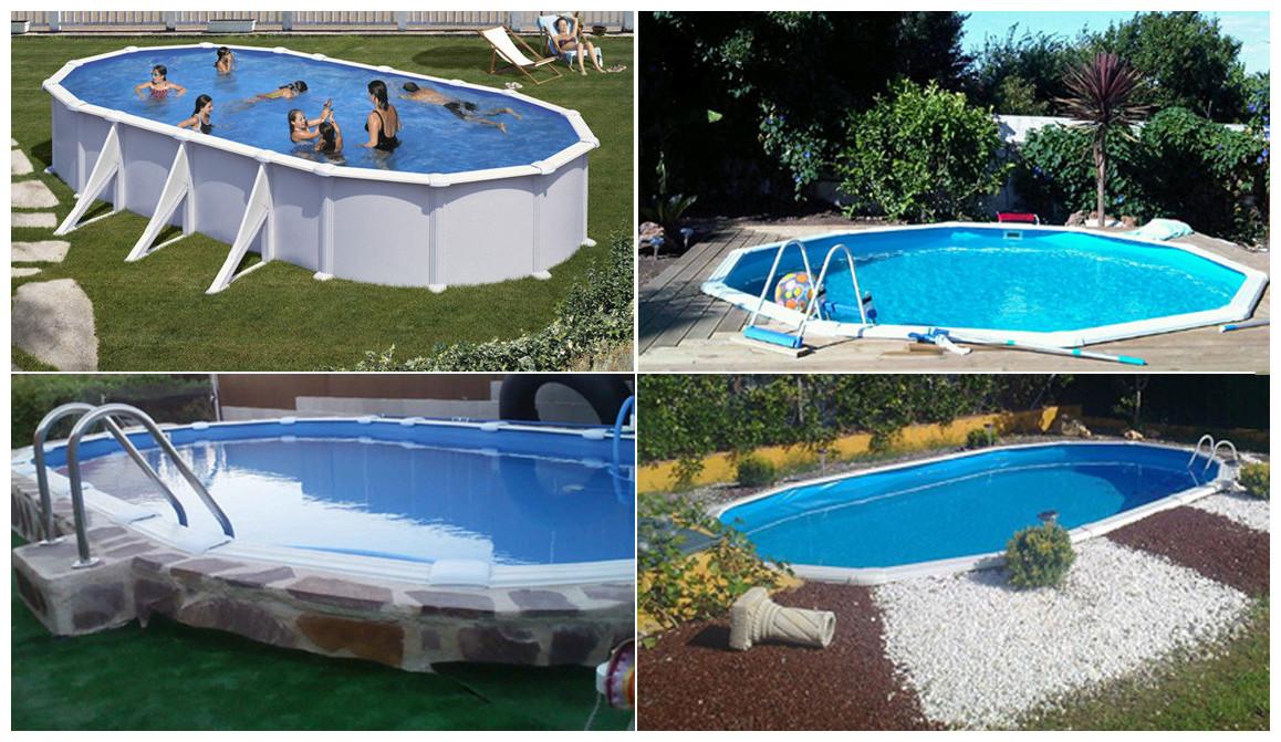 piscine hors sol en acier blanc atlantis différentes formes