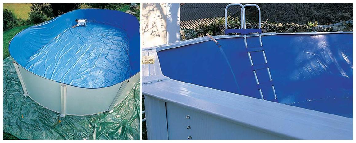 liner de piscine hors sol acier blanc gré