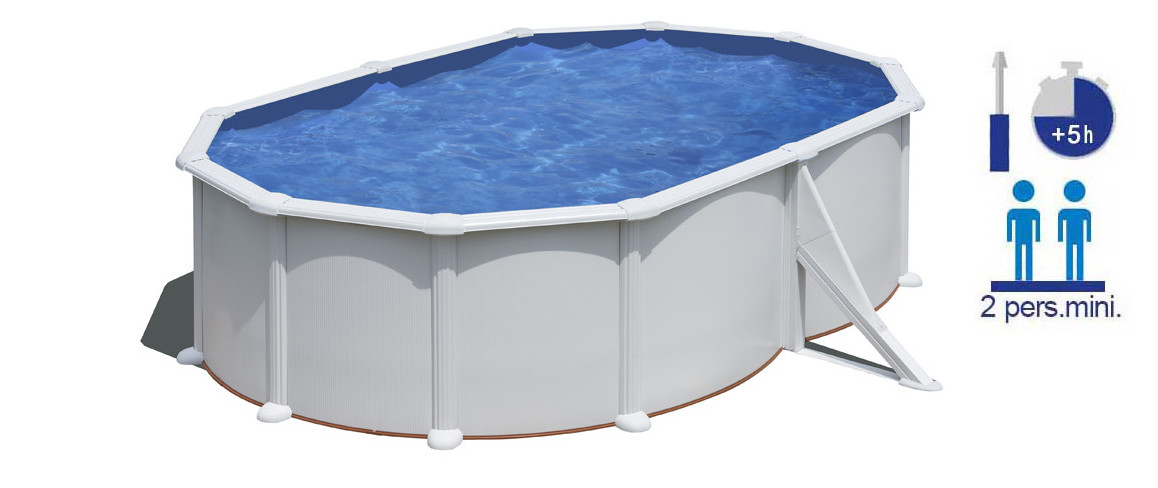 installation de la piscine hors sol gré atlantis