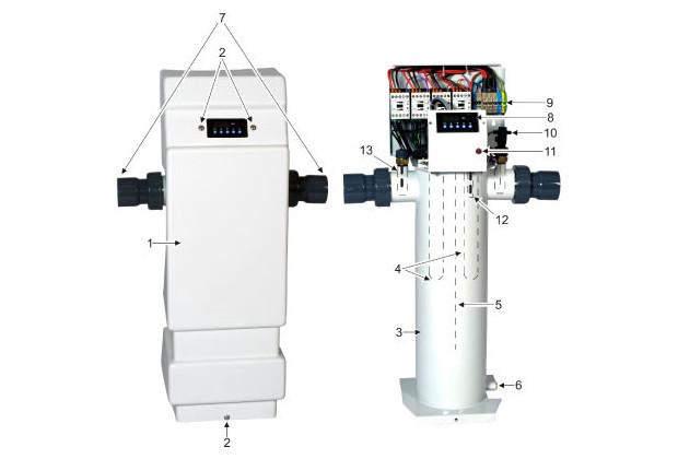 rechauffeur electrique - zodiac rei puissance moyenne - schema
