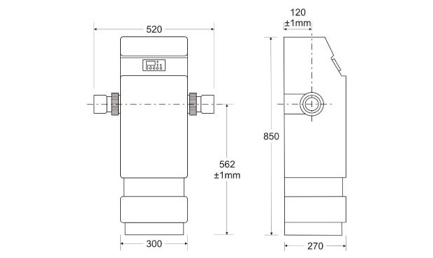 REI rechauffeur piscine industriel zodiac - dimensions