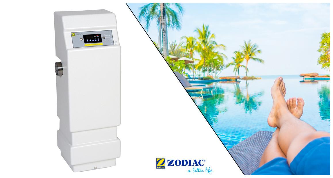 réchauffeur de piscine Zodiac RE/I puissance moyenne en situation