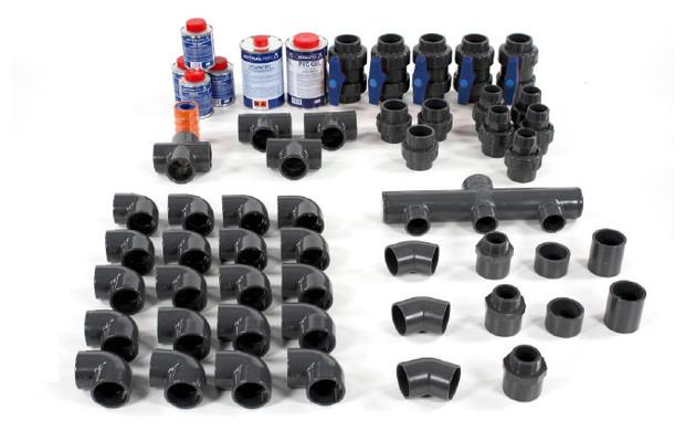 Coudes t s vannes tous les accessoires pvc pour la for Raccord piscine 50