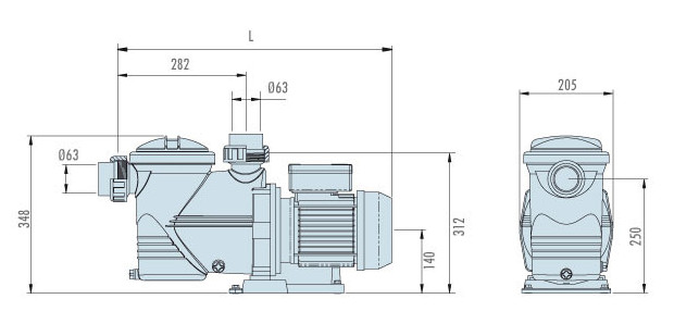 niagara pompe filtration dimensions