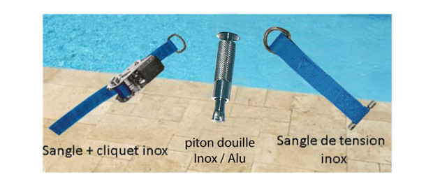 Sangle cliquet pour bache piscine l 39 artisanat et l 39 industrie for Sangle enrouleur piscine