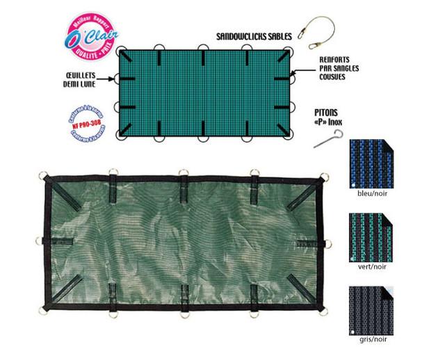 Nara filet b che hiver filtrante piscine center net for Bache filet piscine