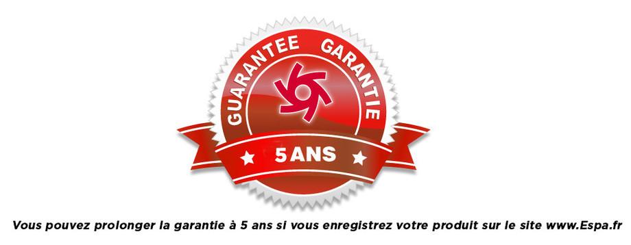 garantie de la pompe de filtration espa