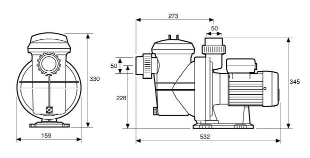 pompe espa SI dimensions
