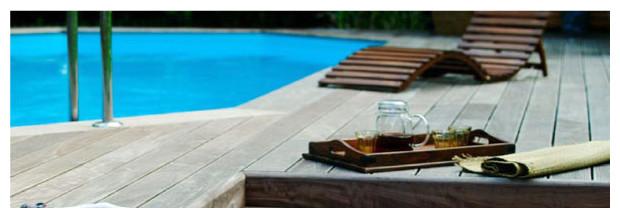 piscine bois octogonale weva enterrée