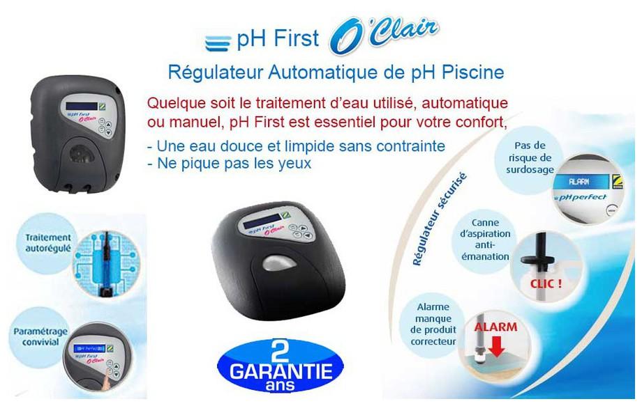 caractéristiques régulateur pH First O Clair Zodiac en situation