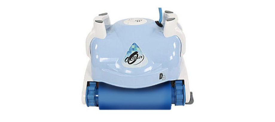 Robot piscine Aquabot D2 O'Clair - vue de face avec brosses mousse