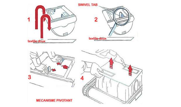 robot de piscine D8 O'Clair - accès filtre