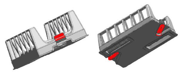 robot nettoyeur électrique D8 - schéma cassettes