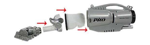 aspirateur nettoyeur pool blaster pro montage elements