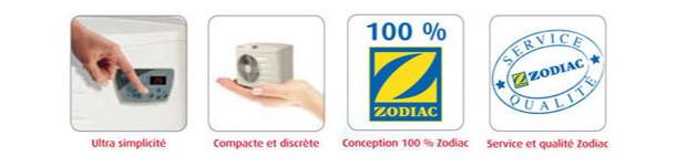pompe à chaleur Zodiac - picto services