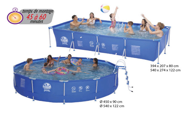 Piscine hors sol tubulaire installation facile piscine for Aspirateur piscine hors sol jilong