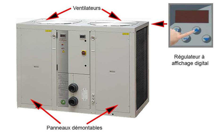 Description de la pompe à chaleur Optipac 30 D by Zodiac en situation